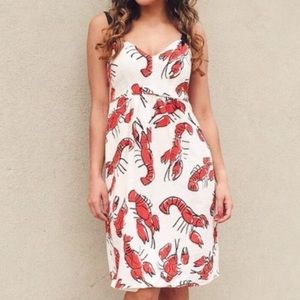 Anthropologie edmé & esyllte Lobster Dress